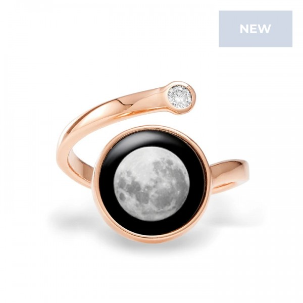 Cosmic Spiral Ring in Rose Gold
