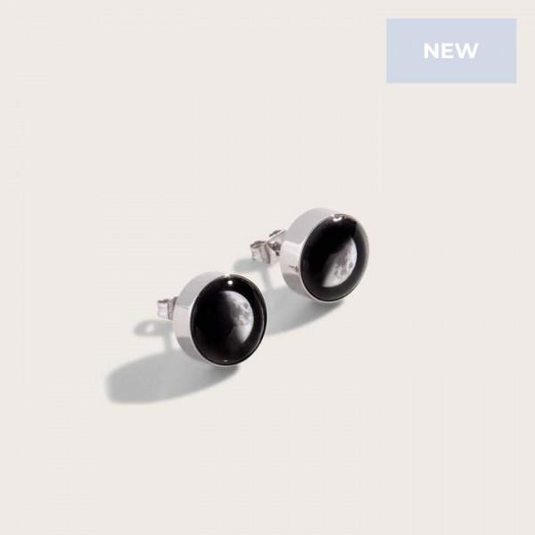 Moonshine Stud Earrings in Stainless Steel