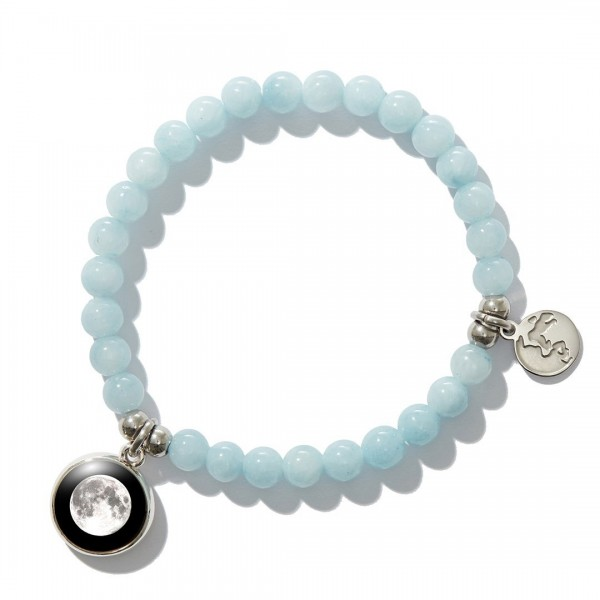 Light Blue beaded bracelet (여성용)