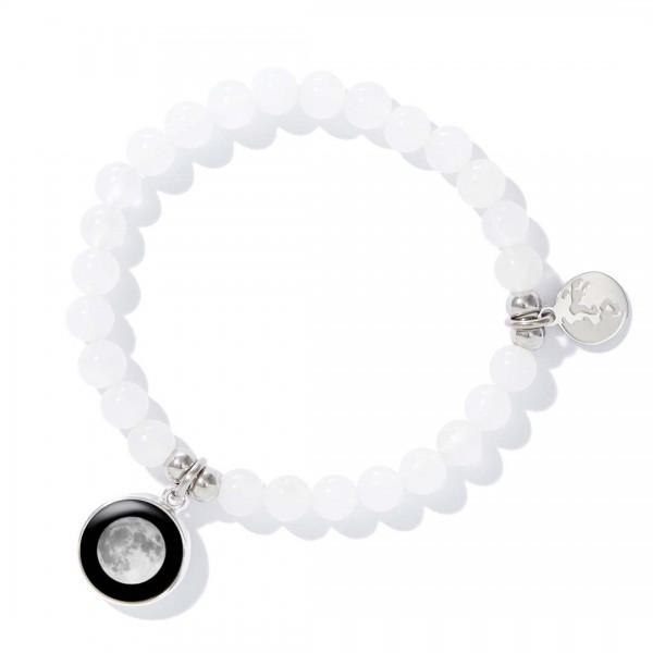 White beaded bracelet (여성용)