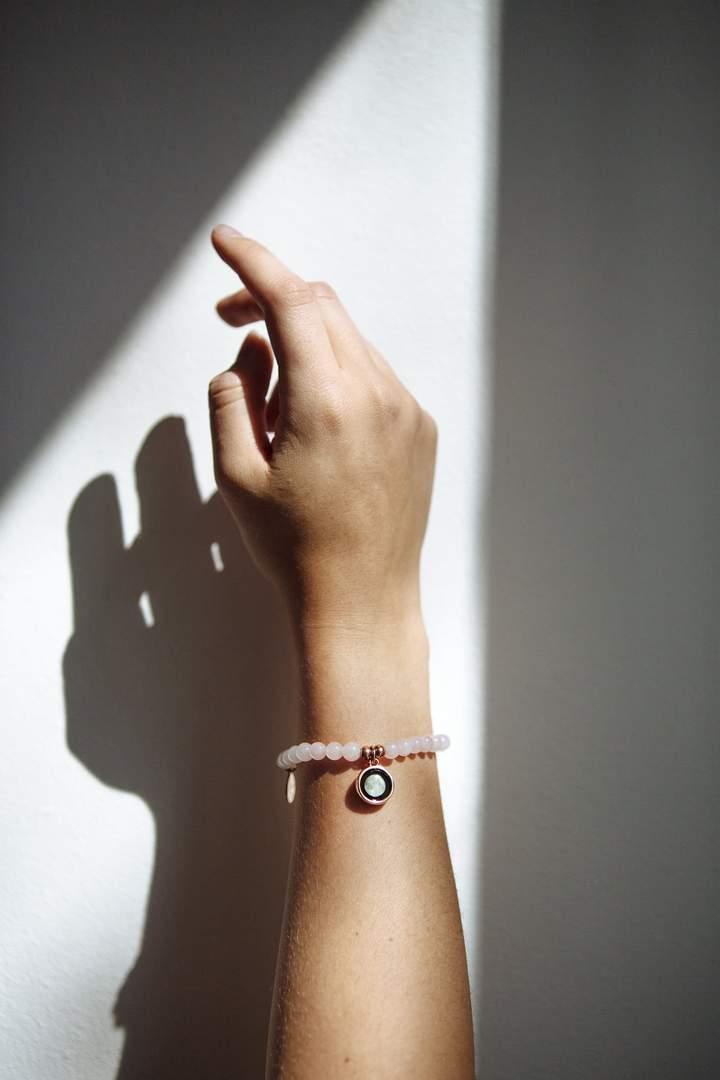 Beaded Bracelet in Rose Gold (프리사이즈)